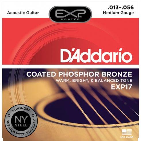 D'Addario Extended Play EXP17 Phosphor Bronze Acoustic Guitars Strings 13-56 Medium