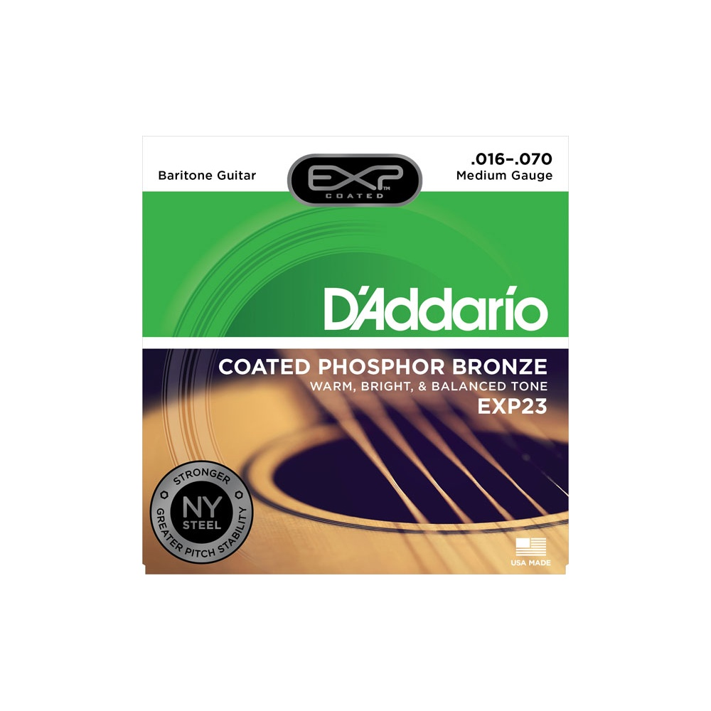 D'Addario EXP23 Phosphor Bronze Acoustic Strings 16-70 ...