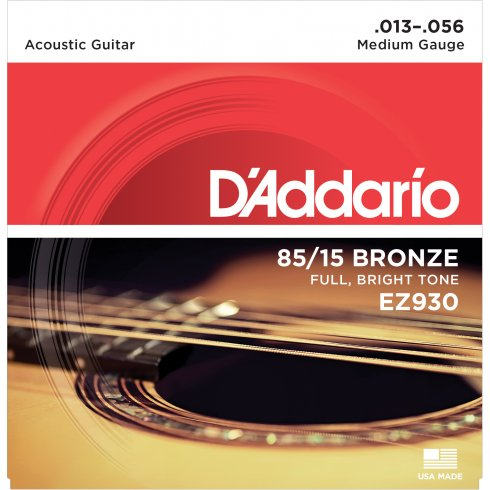 D'Addario EZ930 85/15 Bronze 13-56 Medium Acoustic Guitar Strings