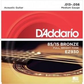 D'Addario EZ930 85/15 Bronze 13-56 Medium Acoustic Guitar Strings