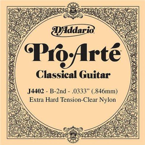 D'Addario J4402 Pro Arte Clear Nylon Extra Hard Tension Single String 2nd B-String