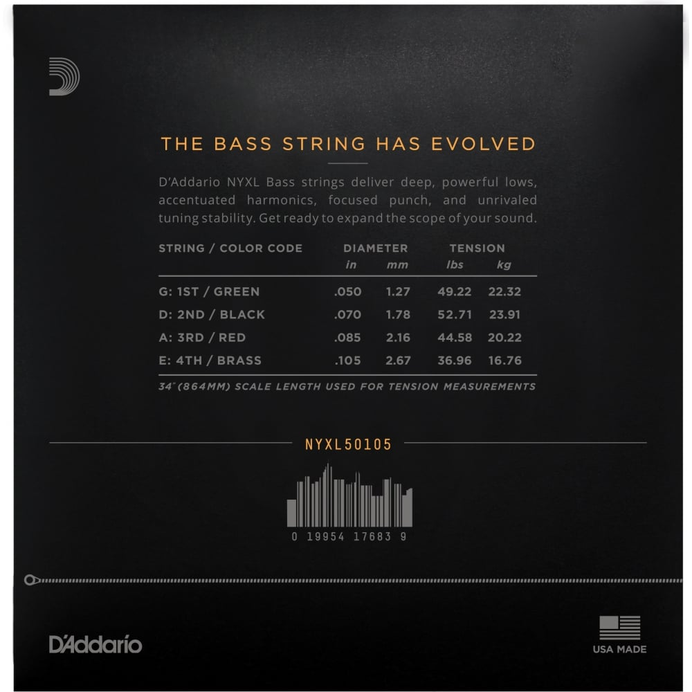 d 39 addario nyxl50105 bass guitar strings set long scale. Black Bedroom Furniture Sets. Home Design Ideas