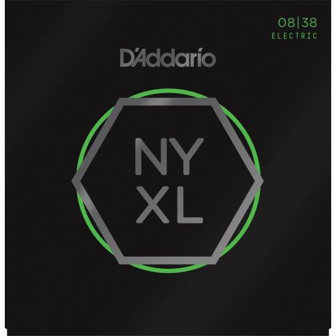 D'Addario NYXL0838 Nickel Wound Electric Guitar Strings 08-38 Extra Super Light