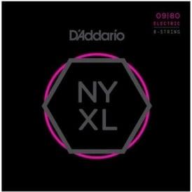 D'Addario NYXL0980 Nickel Wound 8-String Electric Guitar Strings, Super Light, 09-80