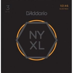 D'Addario NYXL1046-3P Nickel Wound Electric Guitar Strings 10-46 Light 3-Pack