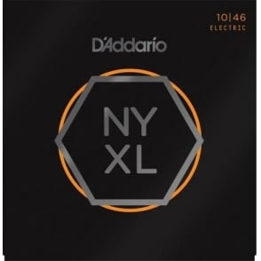 D'Addario NYXL1046 Nickel Wound Electric Guitar Strings 10-46 Light 12-Pack