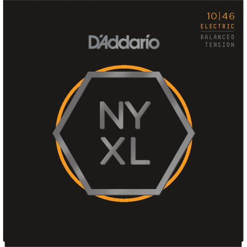 D'Addario NYXL1046BT Nickel Wound Electric Guitar Strings 10-46 Balanced Tension Light