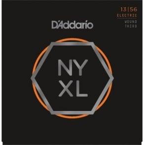 D'Addario NYXL1356w Nickel Wound Electric Guitar Strings 13-56 Jazz Medium w/ Wound 3rd