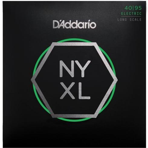 D'Addario NYXL4095 Bass Guitar Strings Set, Long Scale, Super Light, 40-95