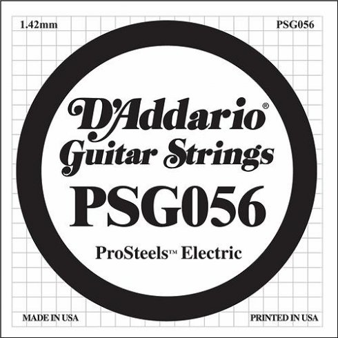 D'Addario PSG056 Stainless Steel Wound Single String .056