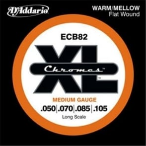 D'Addario ECB82 4-String Flatwound Chromes 50-105 Long Scale Bass Guitar Strings