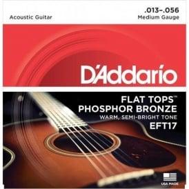 D'Addario EFT17 Flat Tops 13-56 Medium Acoustic Guitar Strings