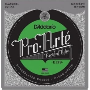 D'Addario EJ29 Rectified Classical Clear Nylon Moderate Tension Guitar Strings