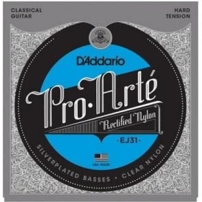 D'Addario EJ31 Rectified Classical Clear Nylon Hard Tension Guitar Strings
