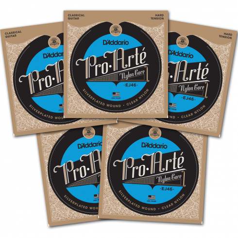 D'Addario EJ46-5PACK Pro Arte Classical Hard Tension Guitar Strings 5 SETS