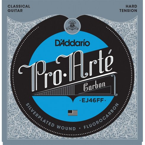 D'Addario EJ46FF Pro Arte Carbon-Dynacore Basses Hard Tension Classical Guitar Strings