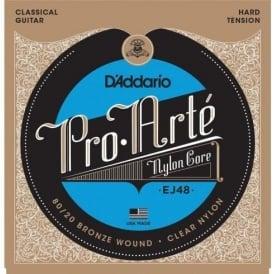 D'Addario EJ48 Pro Arte Classical Guitar Strings - 80/20 Bronze Wound Hard Tension
