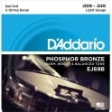 D'Addario EJ69B 5-String Banjo Strings, Phosphor Bronze Wound, Ball End, 09-20 Light