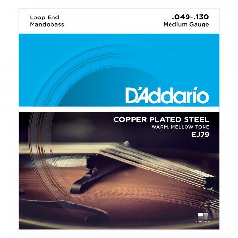 D'Addario EJ79 Mandobass String, Copper Wound, Ball End, 49-130