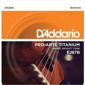 D'Addario EJ87B T2 Titanium Baritone Ukulele DGBE Strings