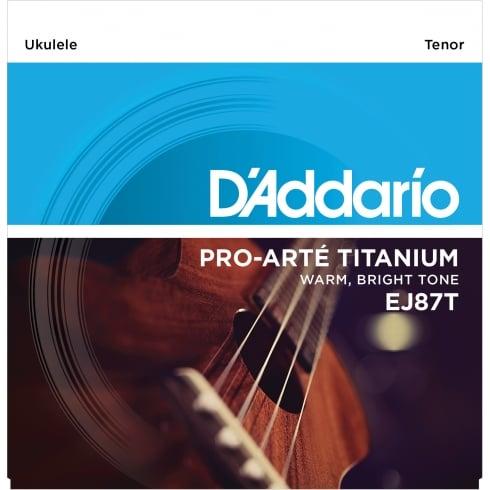 D'Addario EJ87T T2 Titanium Tenor Ukulele Strings for GCEA Tuning