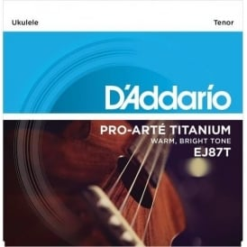 D'Addario EJ87T T2 Titanium Tenor Ukulele Strings for GCEA Tuning