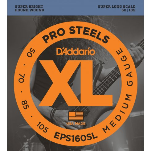 D'Addario EPS160SL ProSteel 50-105 Super Long
