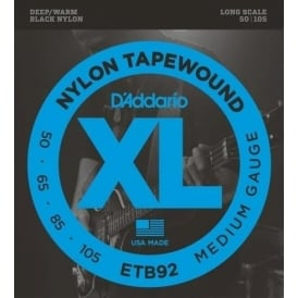 D'Addario ETB92 4-String Nylon Tapewound 50-105 Long Scale Bass Guitar Strings