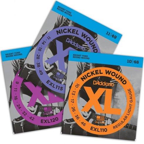 D'Addario EXL Series Nickel Wound Variety Electric Guitar Strings Bundle Pack