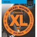 D'Addario EXL160-5 5-String Nickel Wound 50-135 Long Scale Bass Guitar Strings