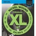 D'Addario EXL165-5 5-String Nickel Wound 45-135 Long Scale Bass Guitar Strings