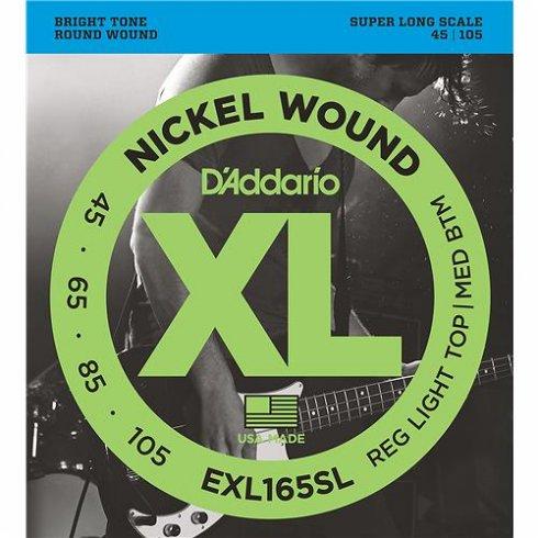 D'Addario EXL165SL 4-String Nickel Wound 45-105 Super Long Scale Bass Strings