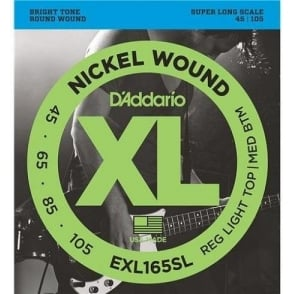 D'Addario EXL165SL 4-String Nickel Wound 45-105 Super Long Scale Bass Strings