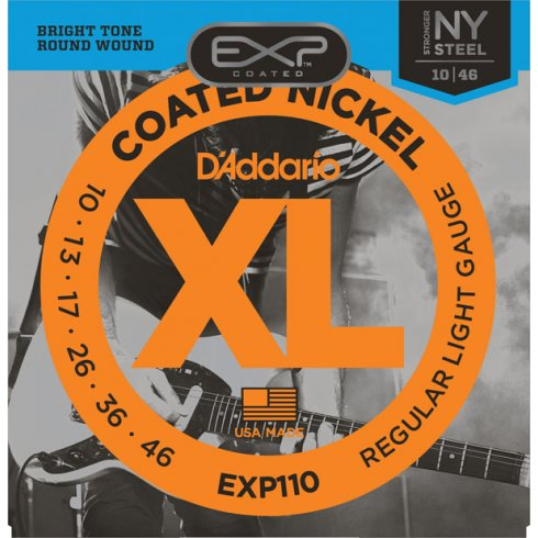 D'Addario Extended Play EXP110 Electric Guitar Strings 10-46 Regular Light