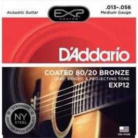 D'Addario Extended Play EXP12 80/20 Bronze Acoustic Guitar Strings 13-56 Medium