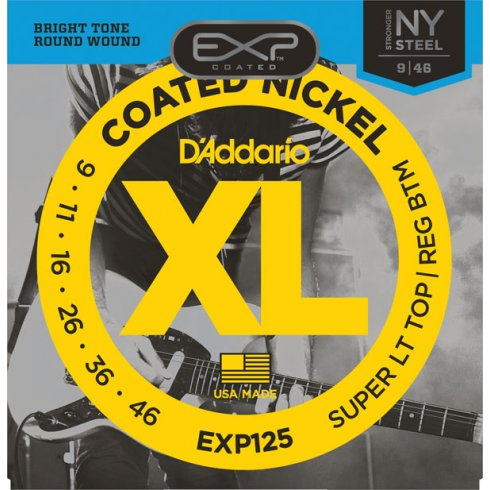 D'Addario Extended Play EXP125 Electric Guitar Strings 09-46 Custom Light