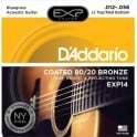 D'Addario Extended Play EXP14 80/20 Bronze Acoustic Guitar Strings 12-56 Bluegrass