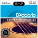 D'Addario Extended Play EXP38 Phosphor Bronze Acoustic Guitar Strings 10-47 12-String Extra Light
