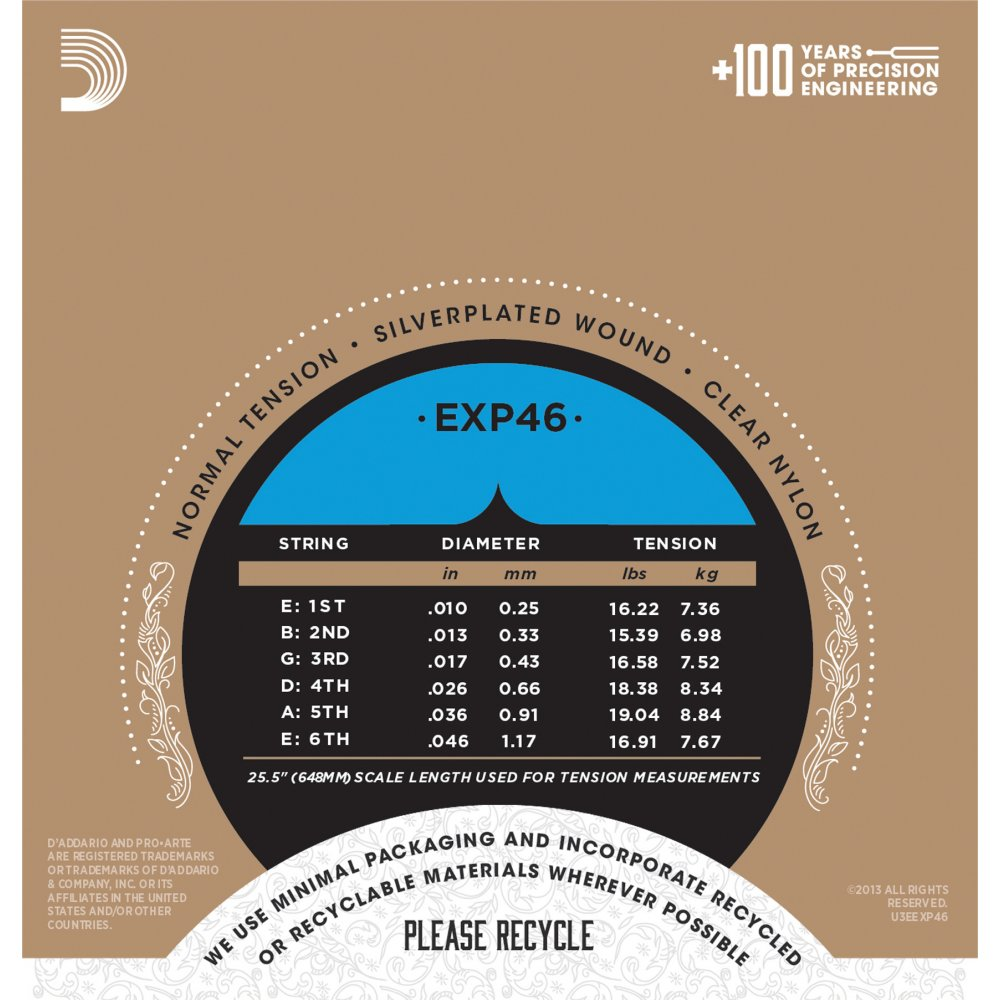 d 39 addario extended play exp46 pro arte classical hard guitar strings. Black Bedroom Furniture Sets. Home Design Ideas