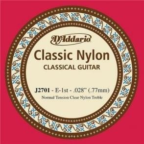 D'Addario J2701 Classic Clear Nylon Normal Tension 1st E-String