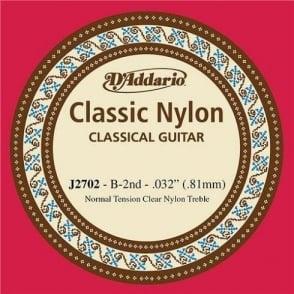 D'Addario J2702 Classic Clear Nylon Normal Tension 2nd B-String
