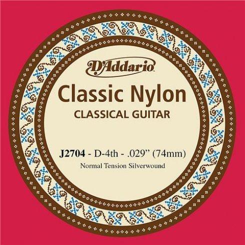 D'Addario J2704 Classic Silver Wound Nylon Normal Tension 4th D-String