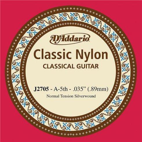 D'Addario J2705 Classic Silver Wound Nylon Normal Tension 5th A-String
