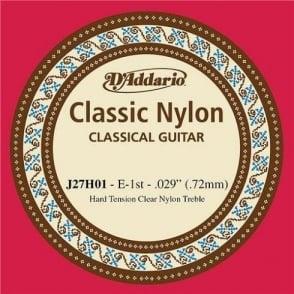 D'Addario J27H01 Classic Clear Nylon Hard Tension 1st E-String Guitar String