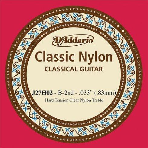 D'Addario J27H02 Classic Clear Nylon Hard Tension 2nd B-String