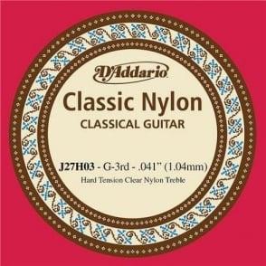 D'Addario J27H03 Classic Clear Nylon Hard Tension 3rd G-String