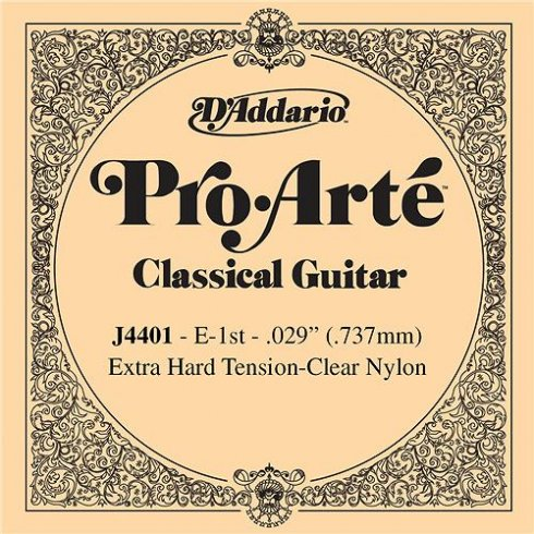 D'Addario J4401 Pro Arte Clear Nylon Extra Hard Tension Single String 1st E-String