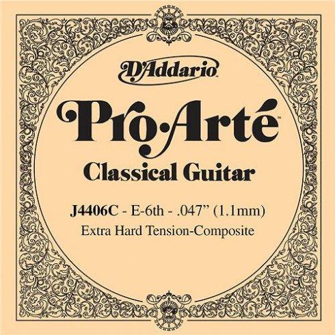 D'Addario J4406C Pro Arte Composite Silverplated Wound on Nylon Extra Hard Tension Single String 6th E-String