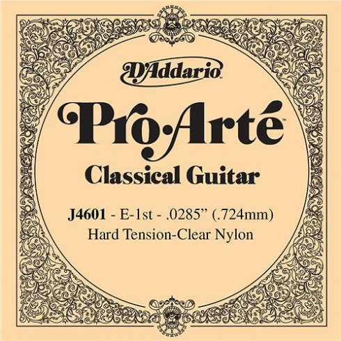 D'Addario J4601 Pro Arte Clear Nylon Hard Tension Single String 1st E-String