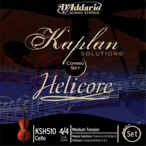 D'Addario Kaplan Solutions Cello Set 4/4 Scale - Medium Tension